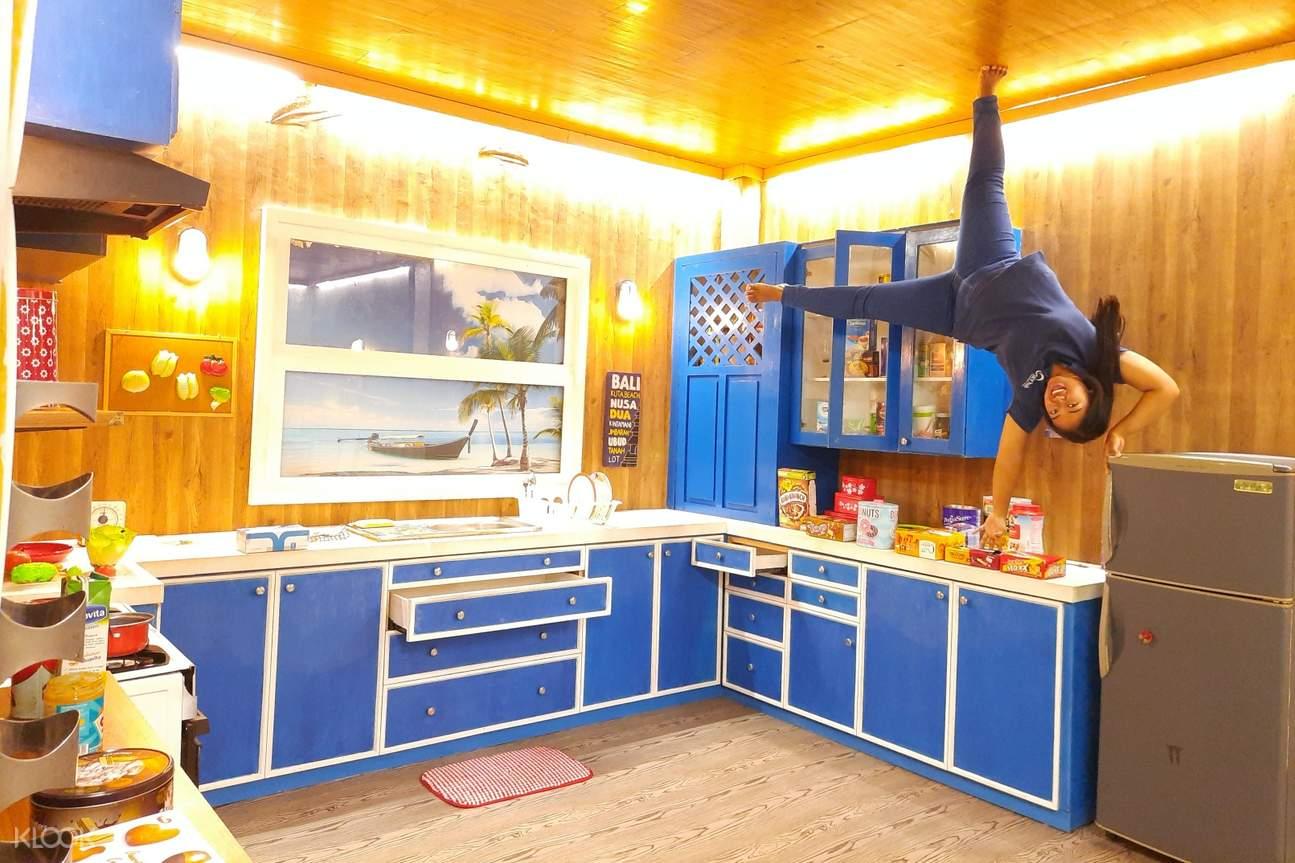 display at upside down world in bali