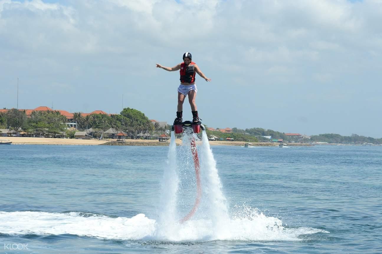 man flyboarding in nusa dua bali