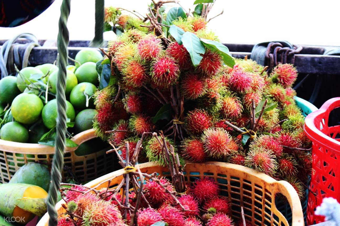 rambutan Mekong Delta Floating Market