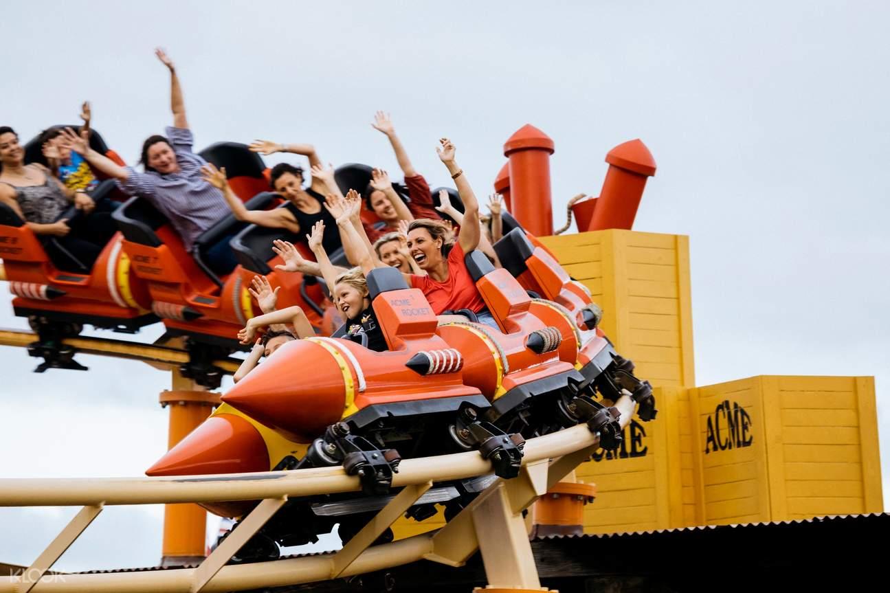 Warner Bros Movie World rollercoaster