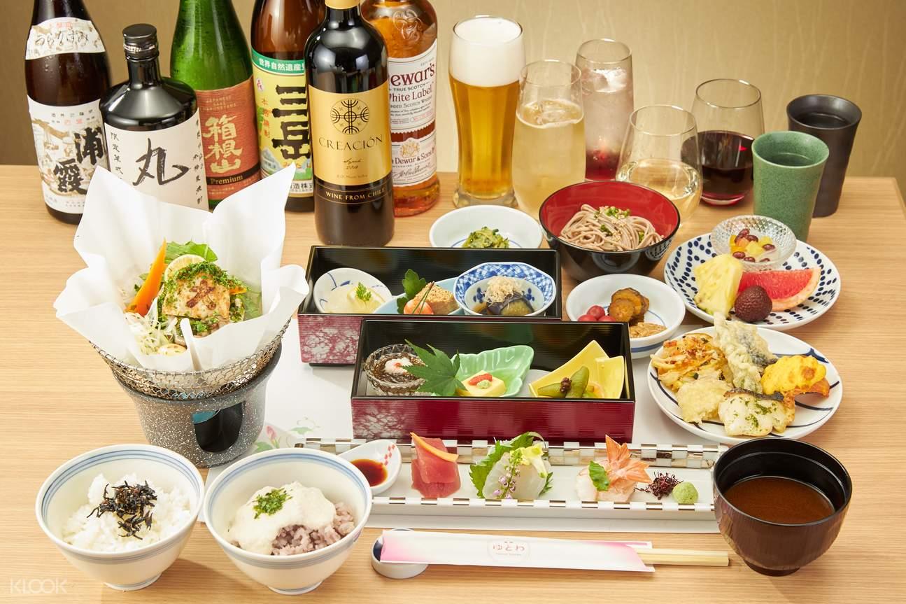 Enjoy buffet style Japanese food