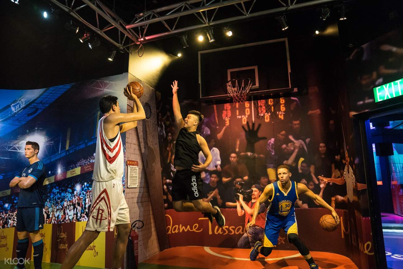 athletes in Hong Kong Madame Tussauds