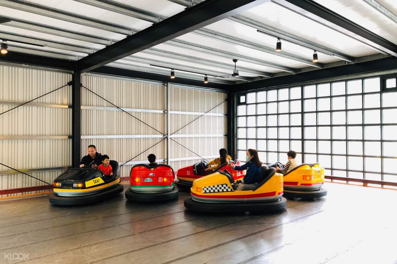 bumper car ride at Suao Taxi Museum