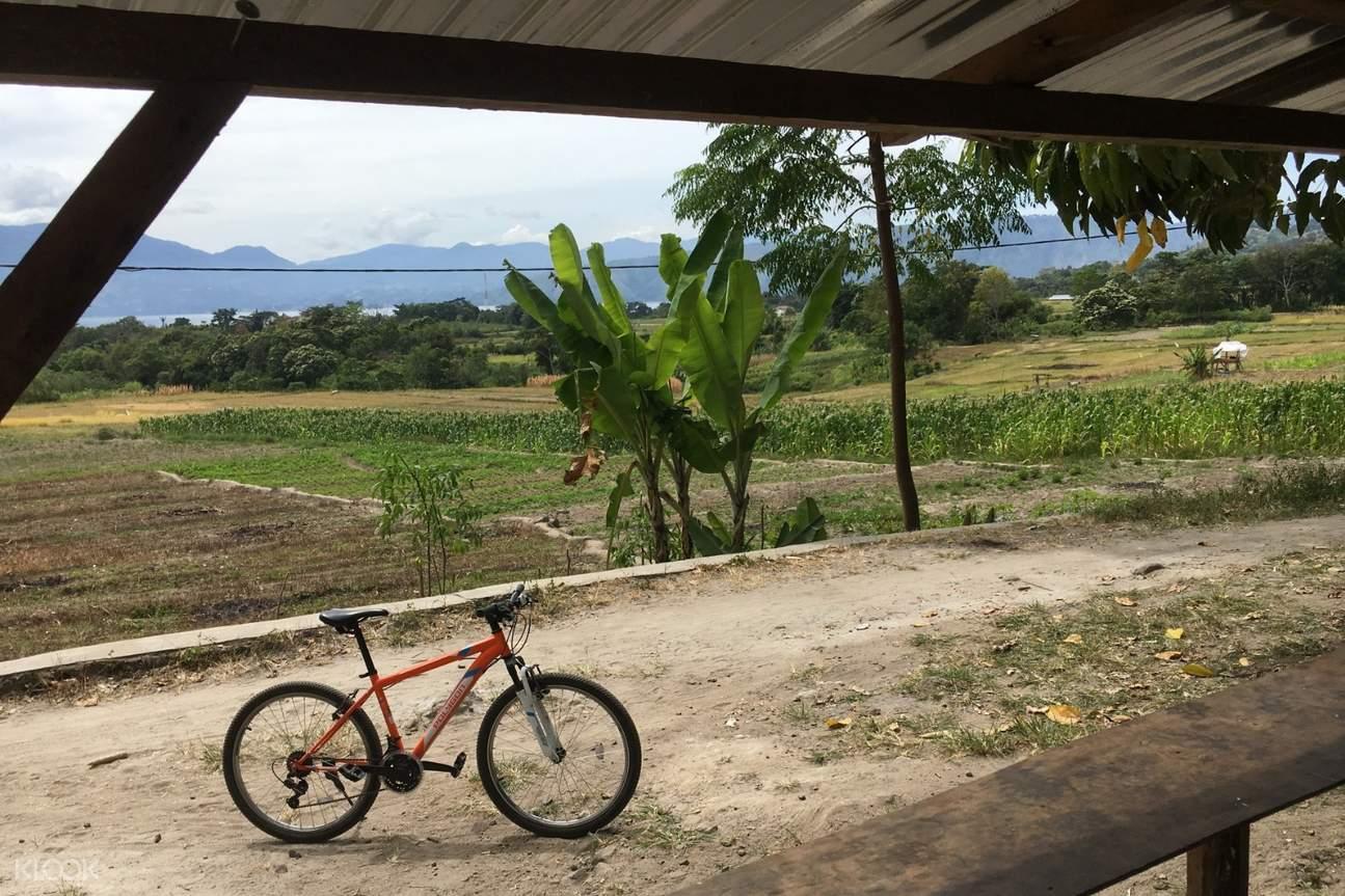 Samosir Island countryside and bike