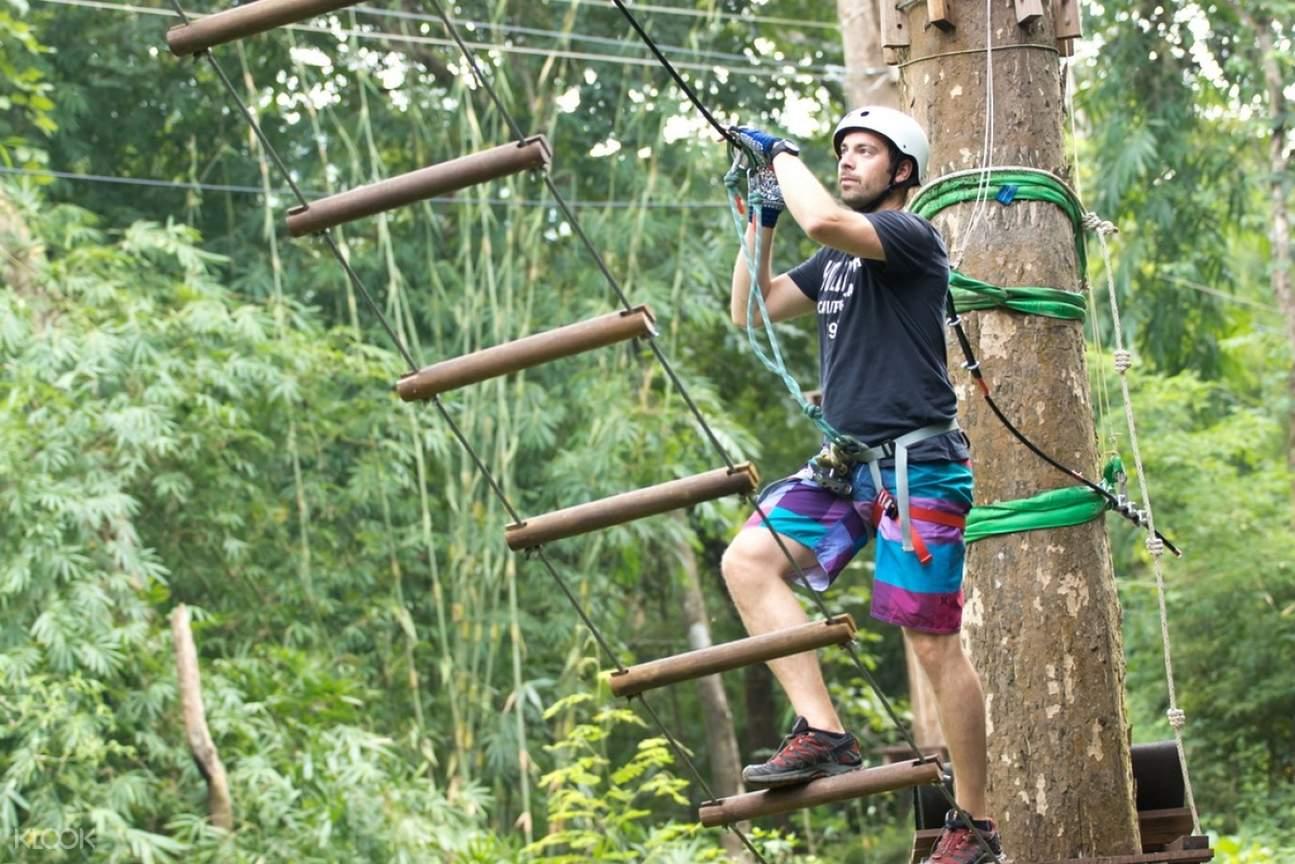 Tree Top Adventure Park Ladder Station