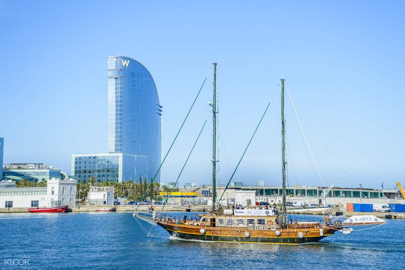 巴塞羅那半日遊,巴塞羅那遊船觀光,巴塞羅那海陸空