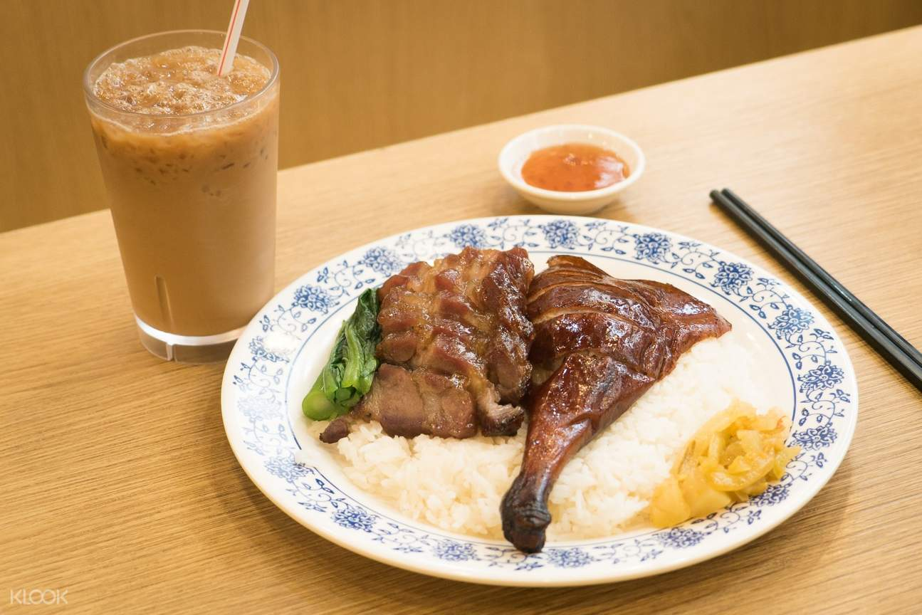 BBQ Pork and Roasted Drumstick w_ Rice at Ki's Roasted Goose Restaurant in Wan Chai and Tin Hau