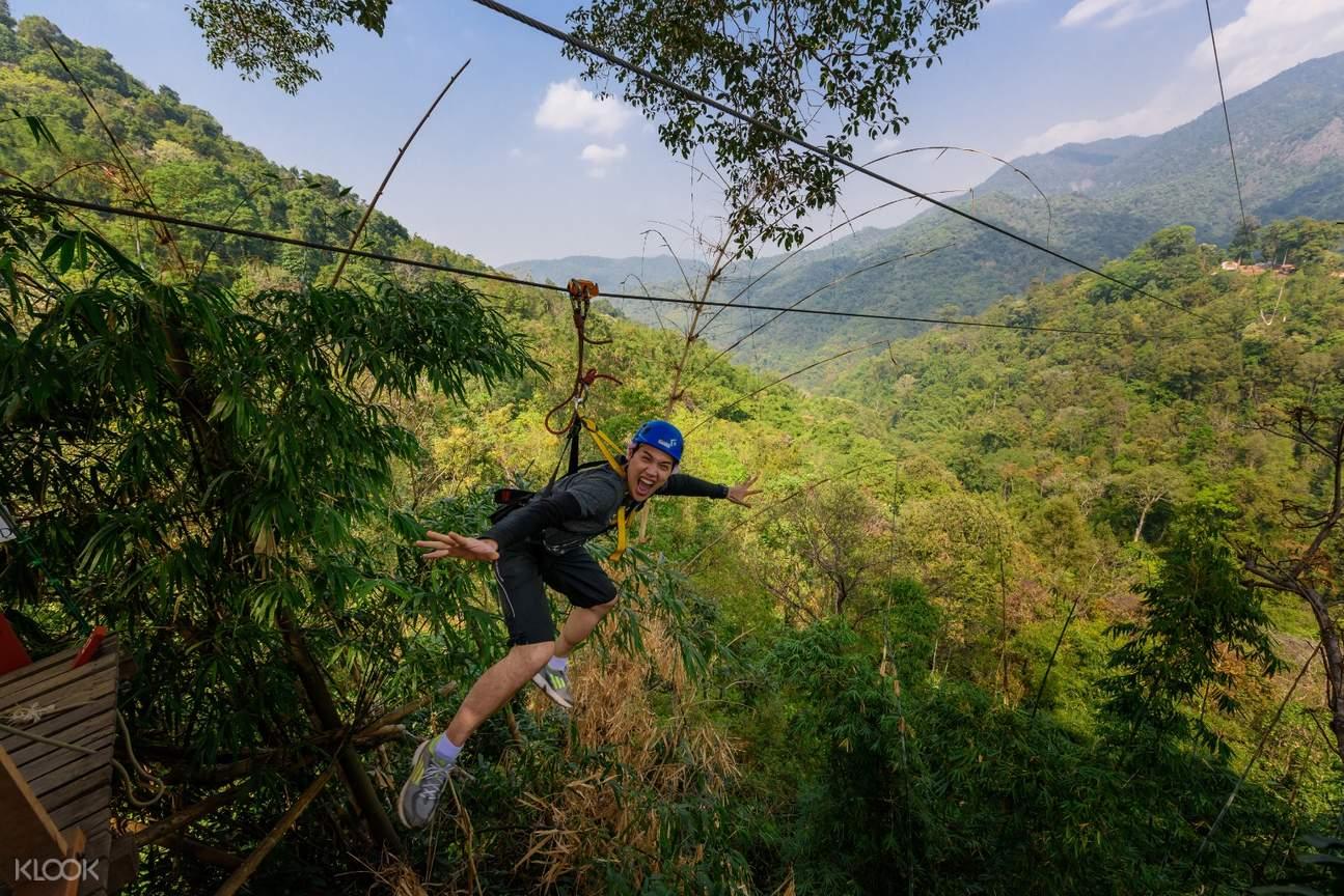 清邁天際線叢林飛索體驗