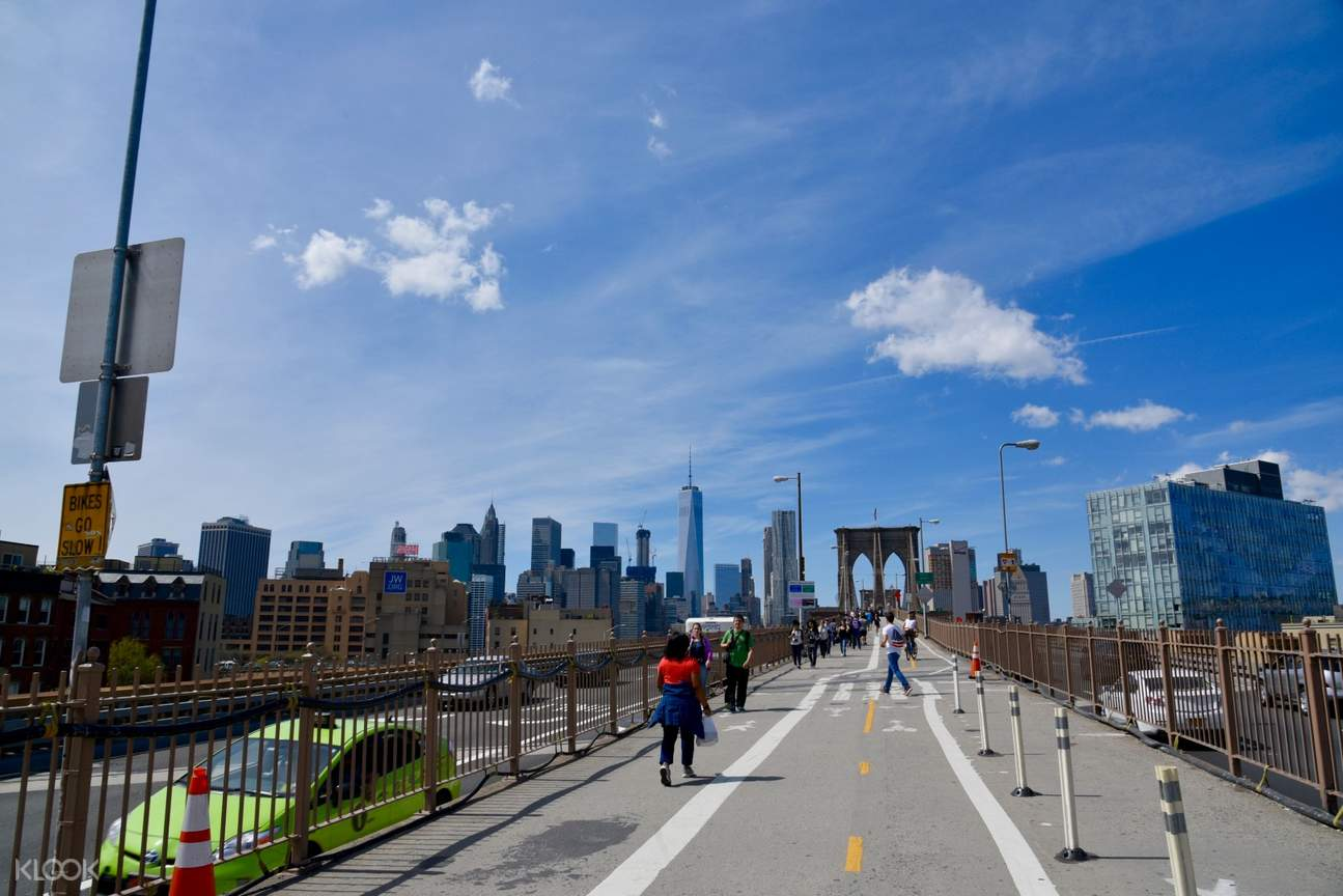 view of a bike lane in new york