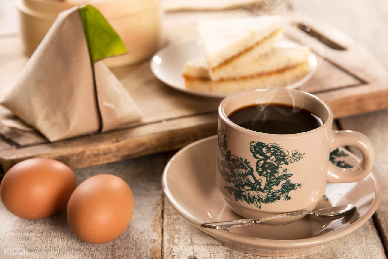 kaya toast coffee and eggs in singapore food tour