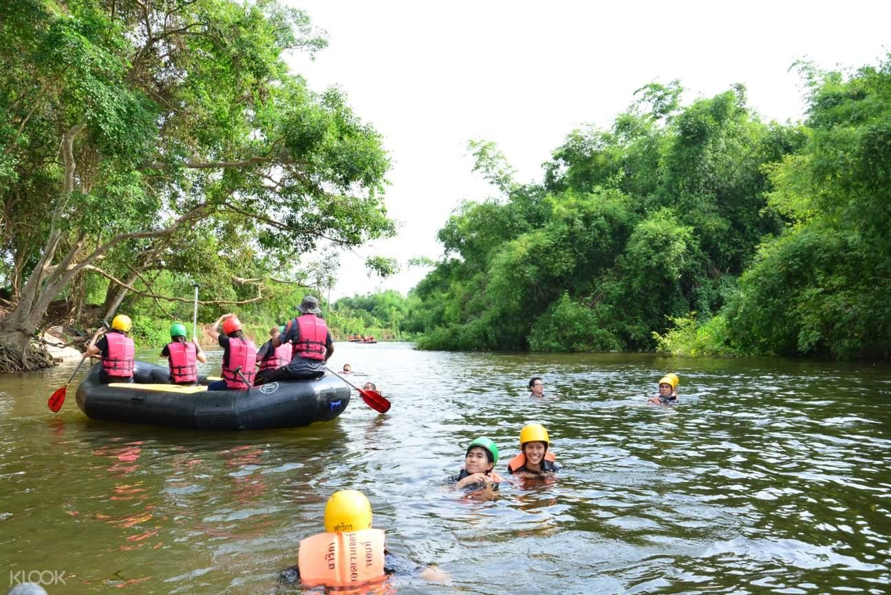 泰國坤西育河漂流