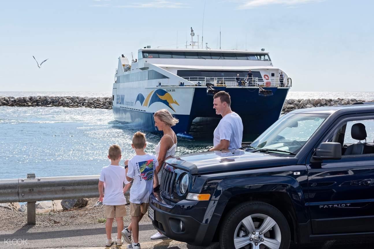 Drive your car onto the ferry to Kangaroo Island