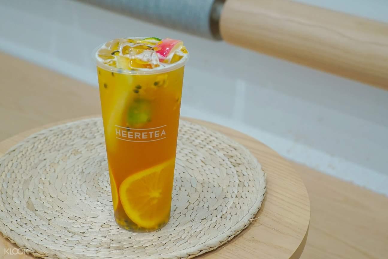 Fruit Tea at Heeretea in Causeway Bay