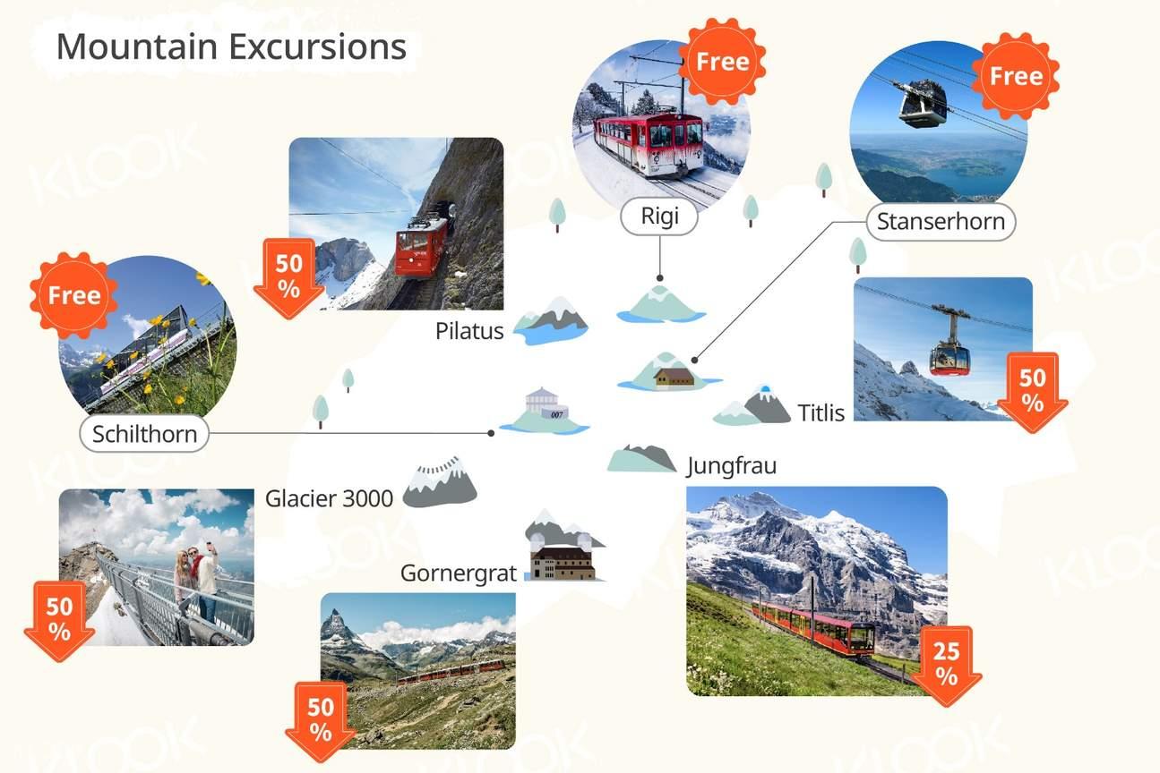 Swiss Travel Pass (Flexible 3, 4, 8 or 15 Days)
