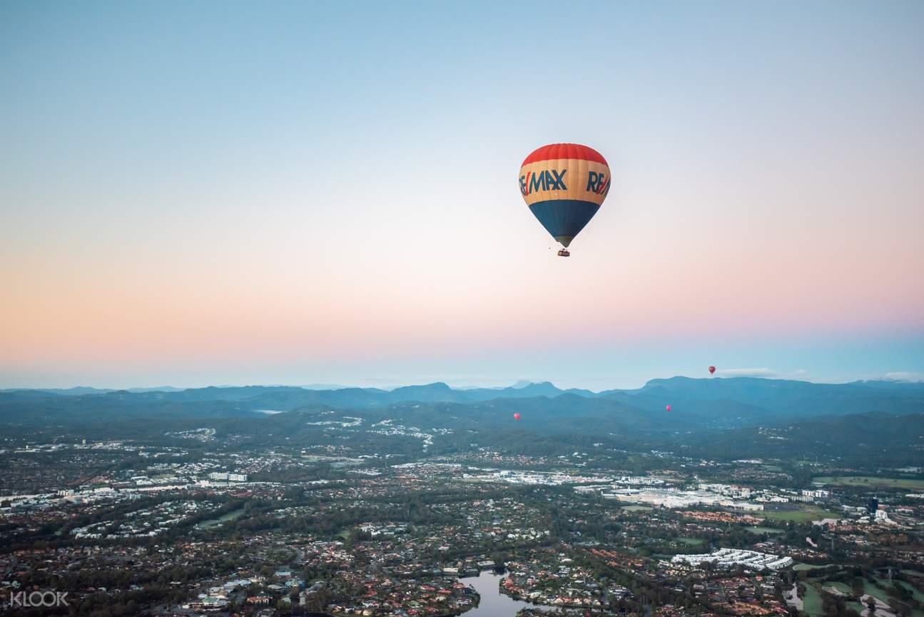 hot air balloon ride australia