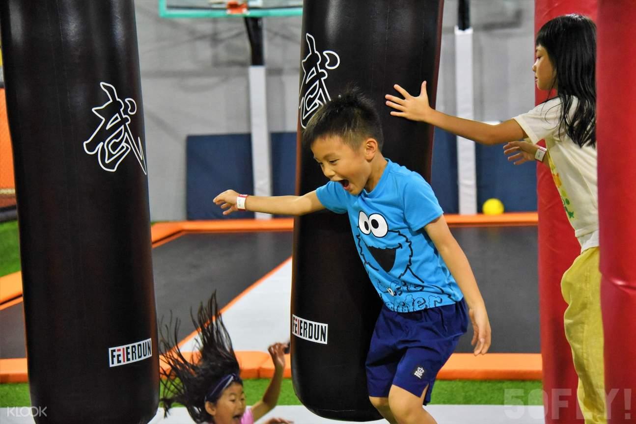 ninja warrior course  50fly trampoline club