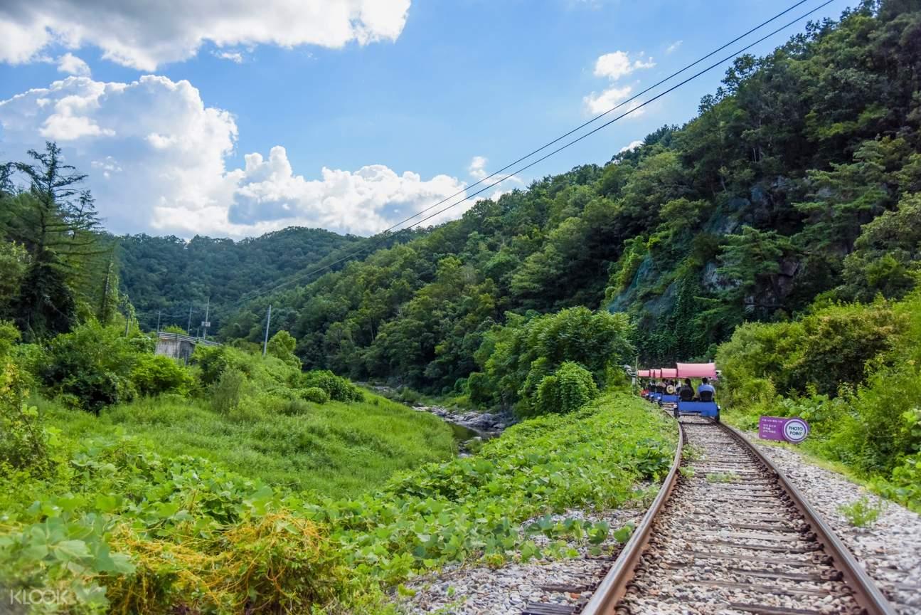 gangchon rail bike track
