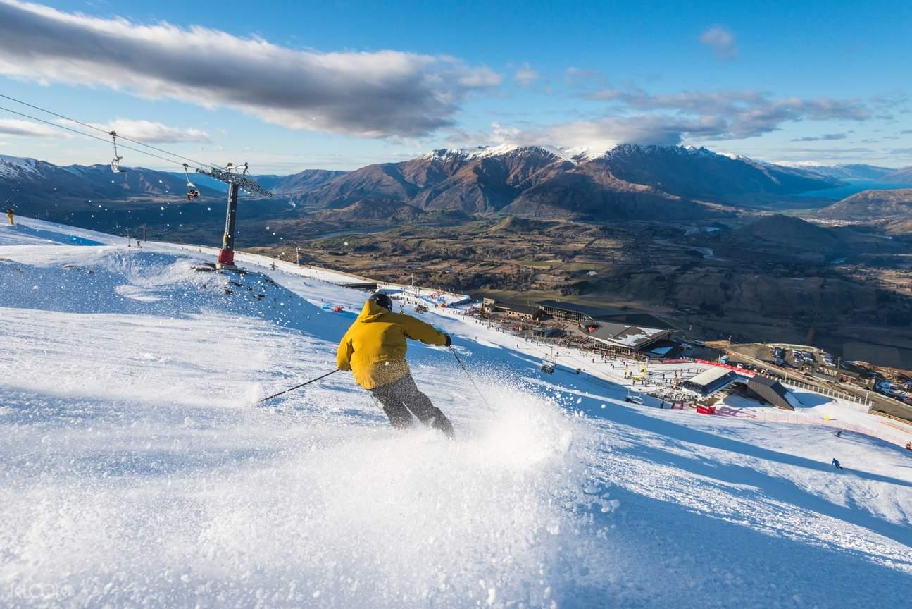 Ski at Coronet Peak Ski Resort with rental equipment and hired clothes