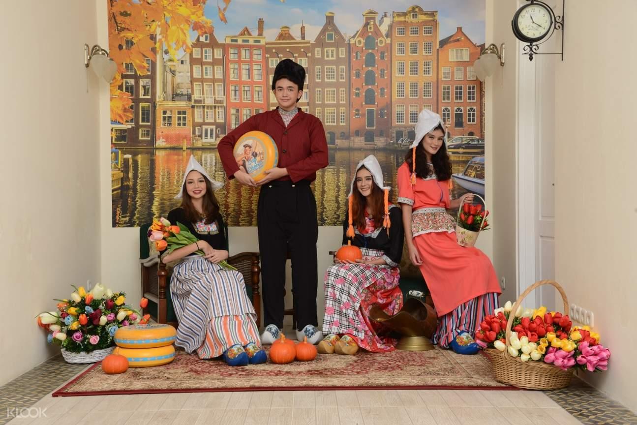 dutch culture photo wall in rumah belanda bandung