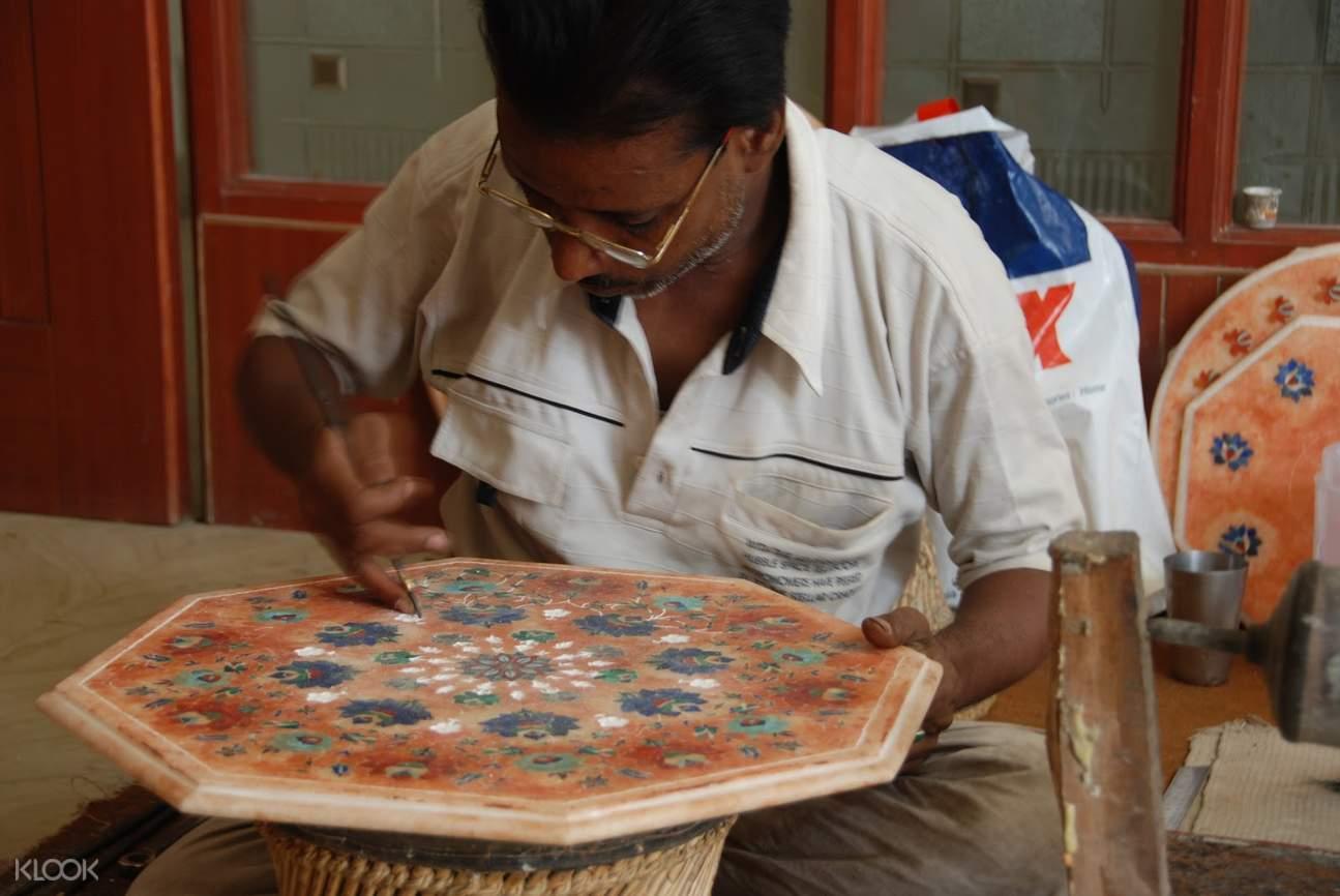 阿格拉 莫卧儿王朝 当地工匠艺人