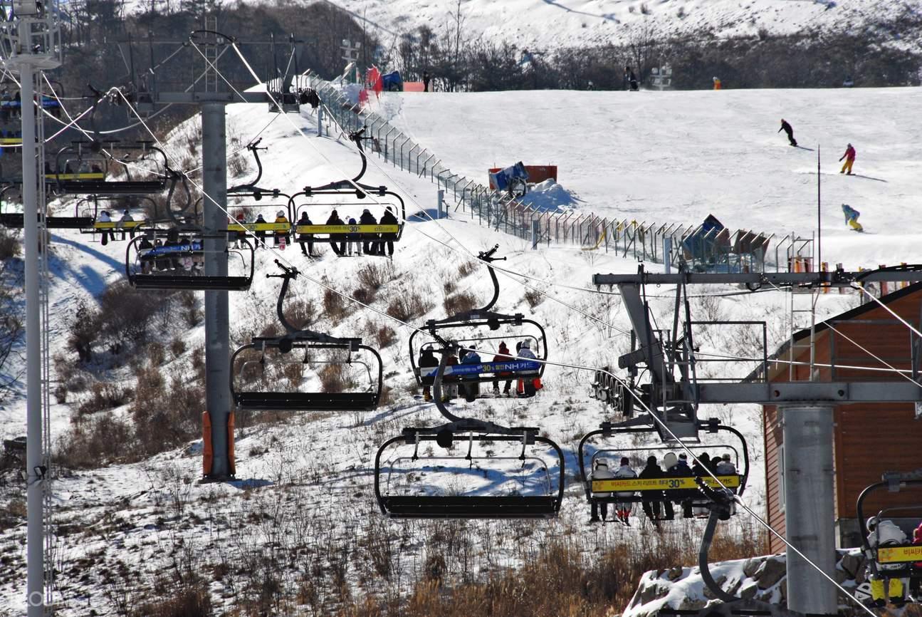 釜山周邊慶尚南道梁山市伊甸園山谷滑雪度假村