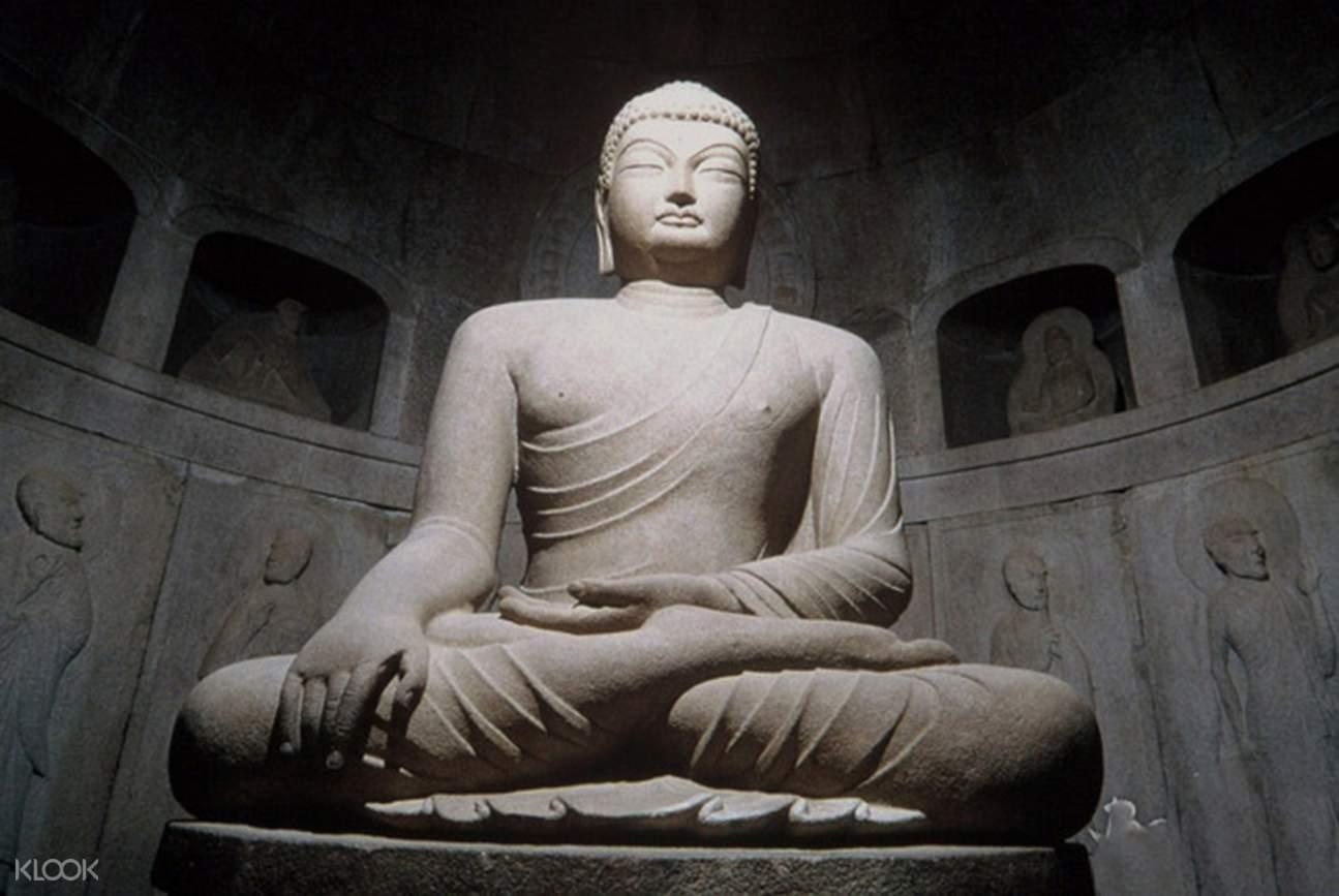 Buddhist sculpture of Seokguram cave grotto