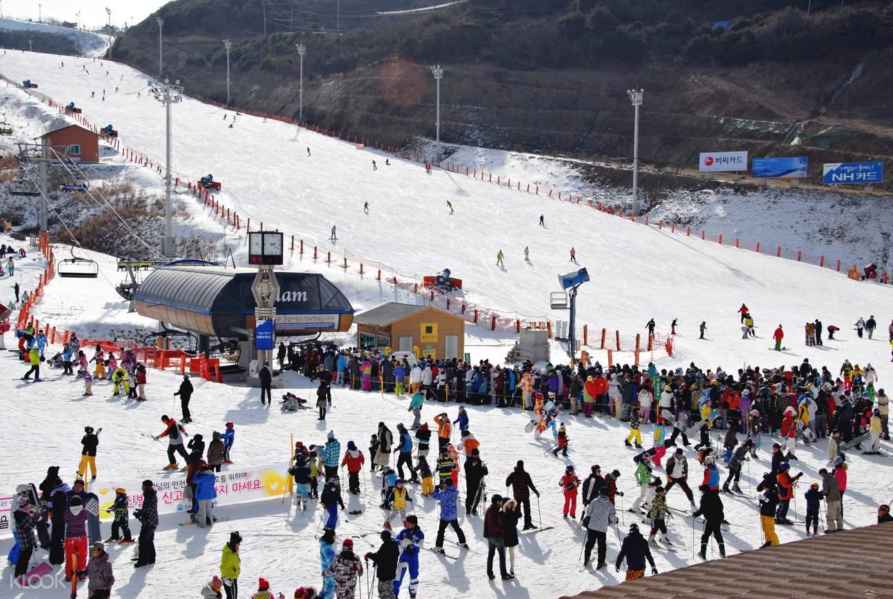韓國釜山周邊伊甸園山谷滑雪度假村