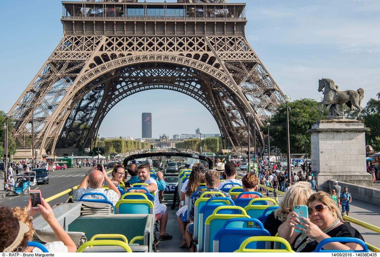 paris open bus pass night tour