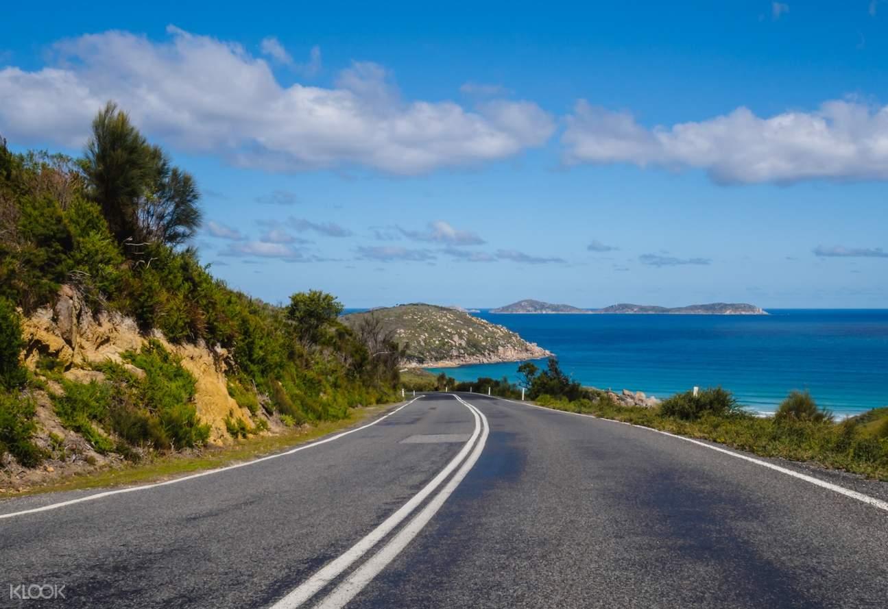 open road at Wilsons Promontory, Australia