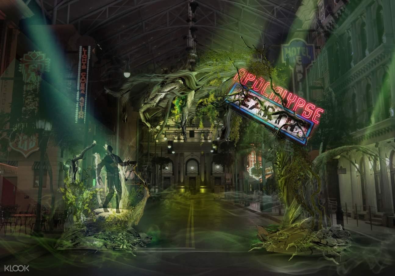 halloween horror nights 8 uss singapore apocalypse:earth