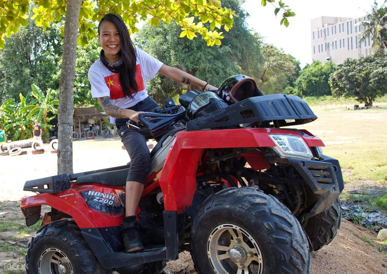 芭提雅 Sanook公园 ATV全地形车越野