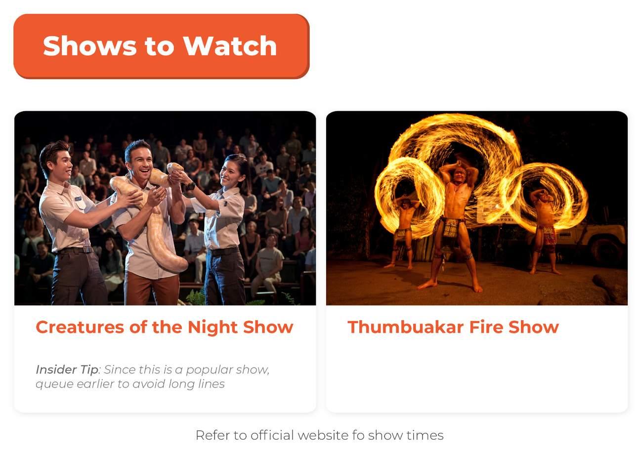 shows to watch at singapore night safari