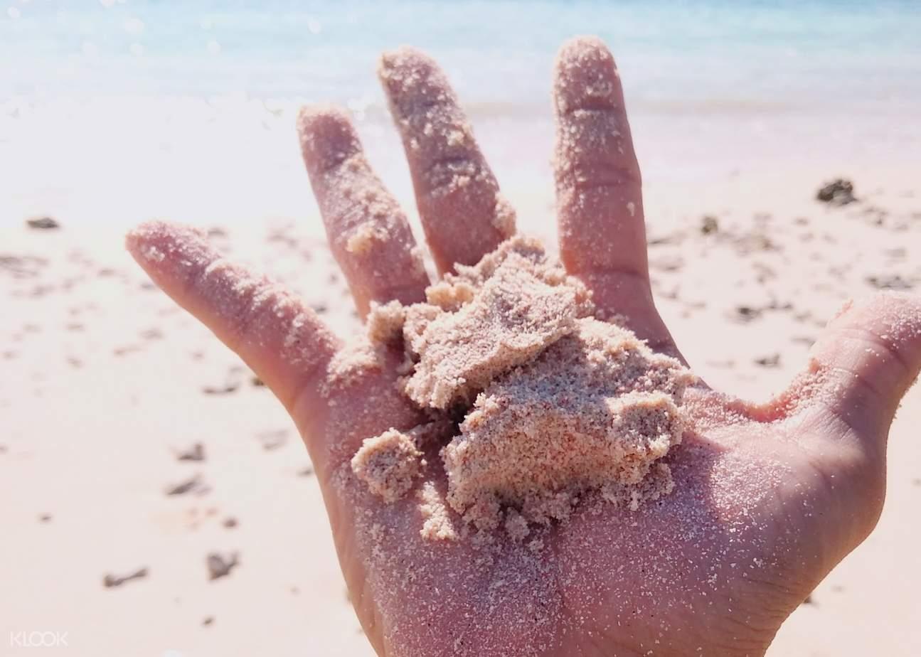 hand holding sand