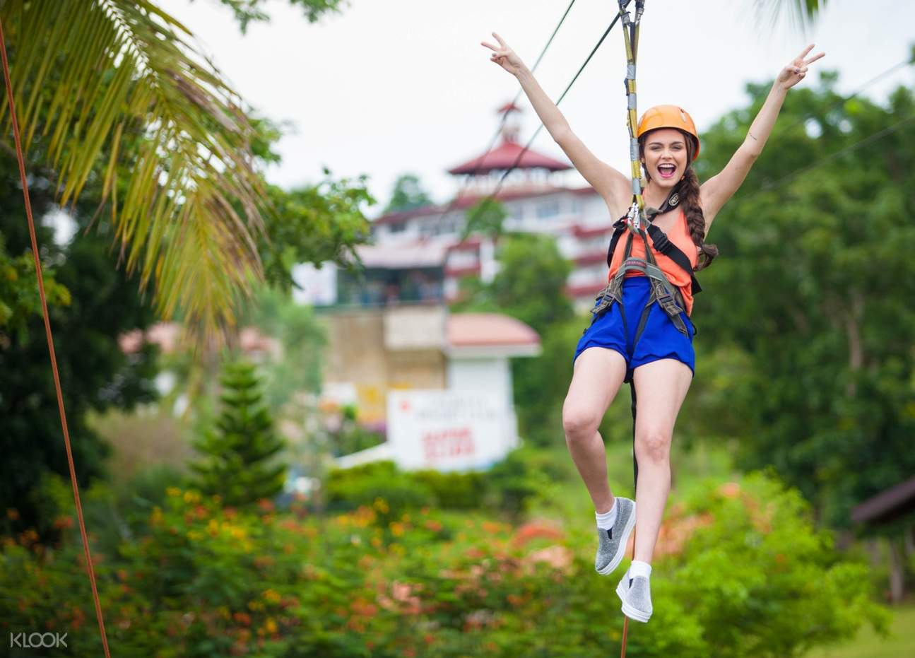 girl in zipline
