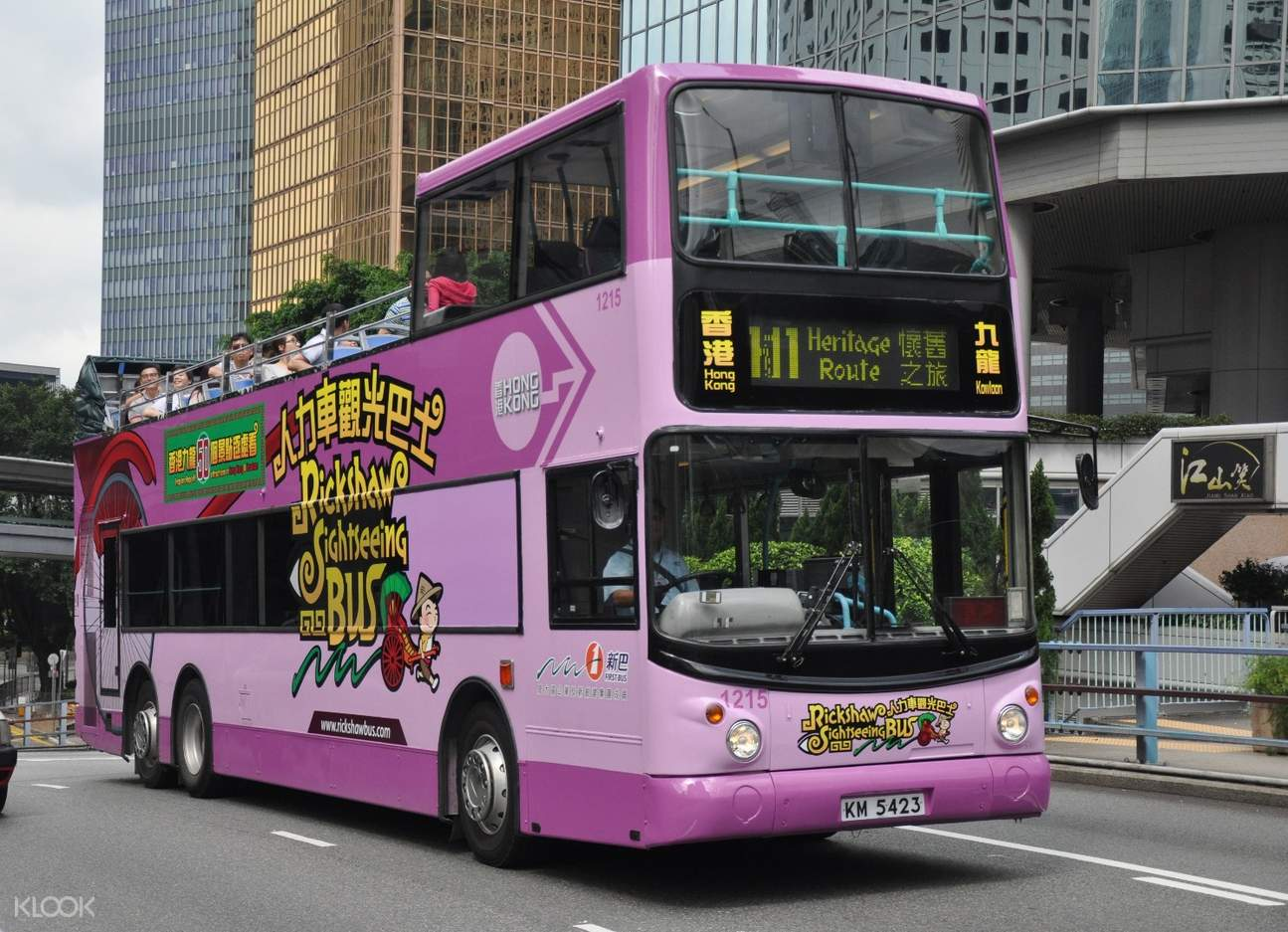 香港人力车观光巴士