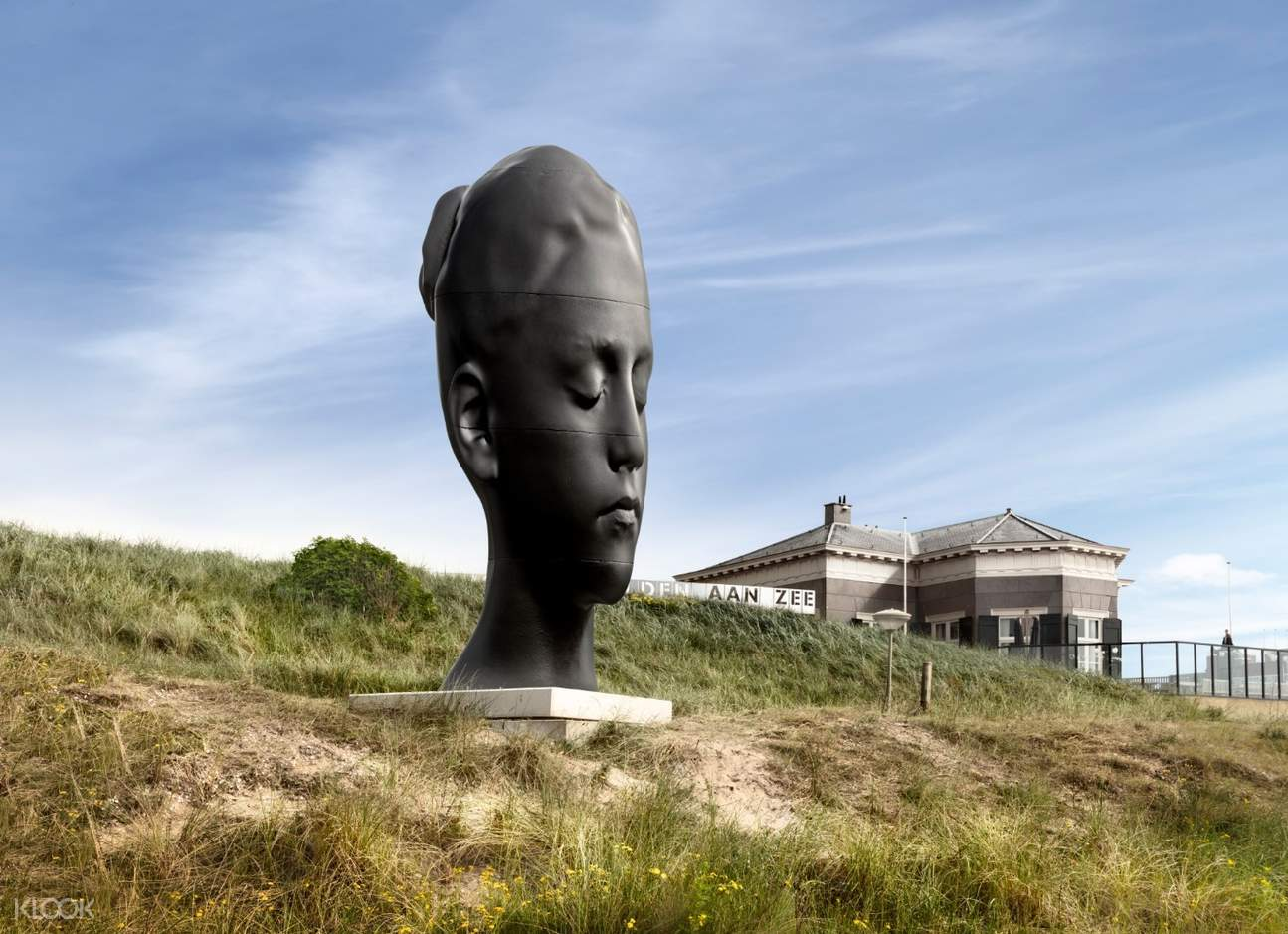 a sculpture on dunes