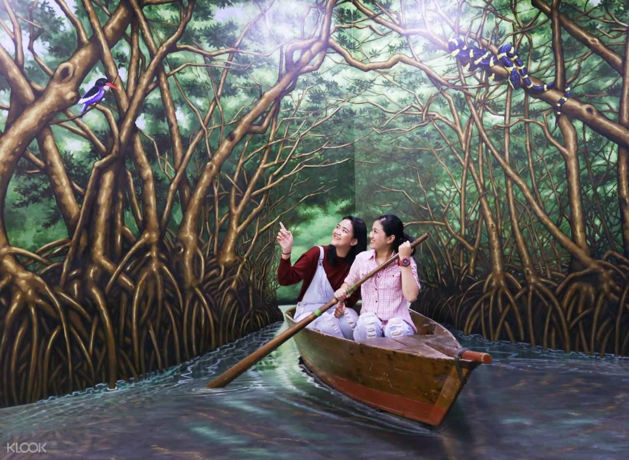 boat 3d art in rumah imaji bintan
