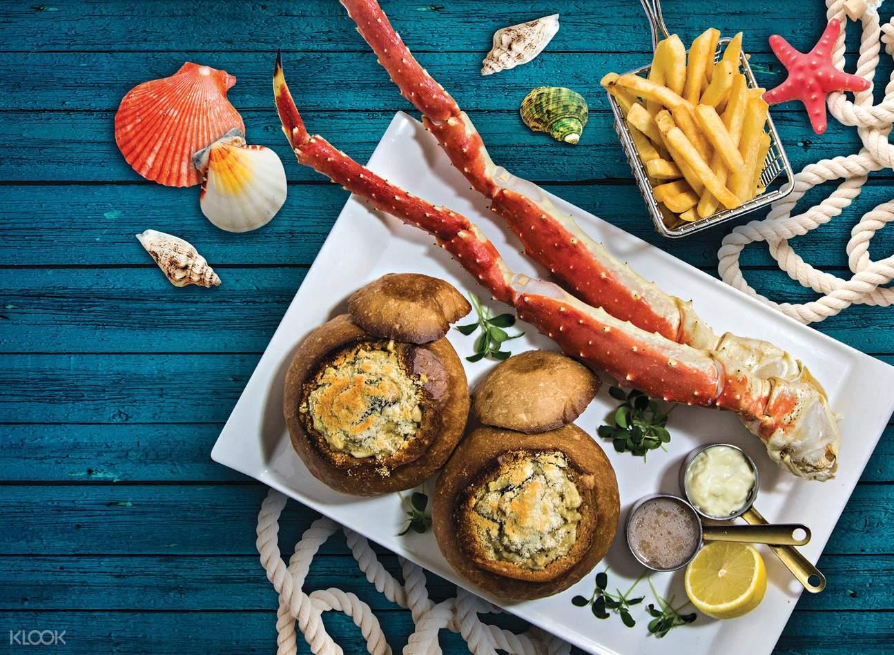 Alaska King Crab dinner set
