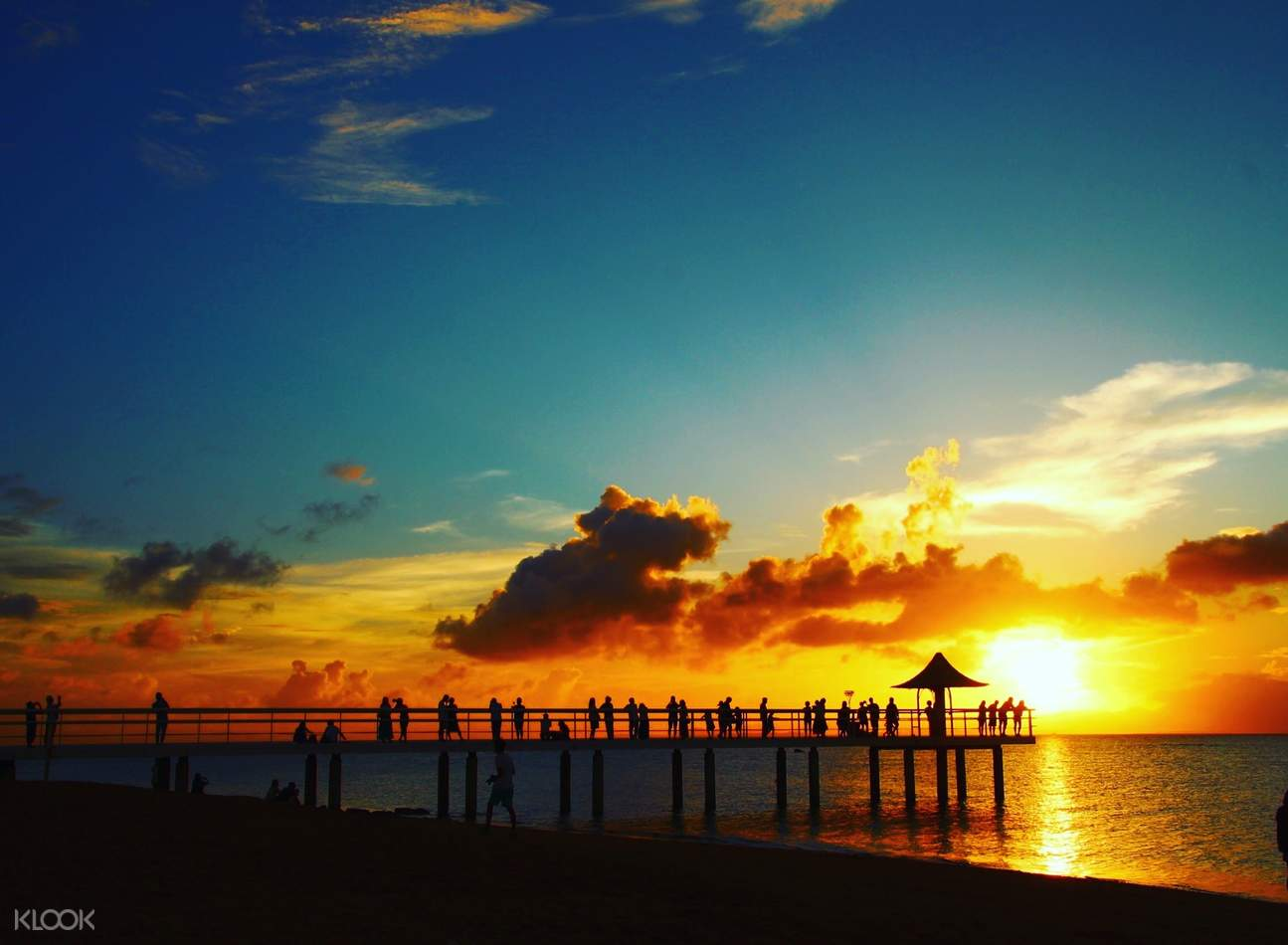 フサキビーチでの夕日