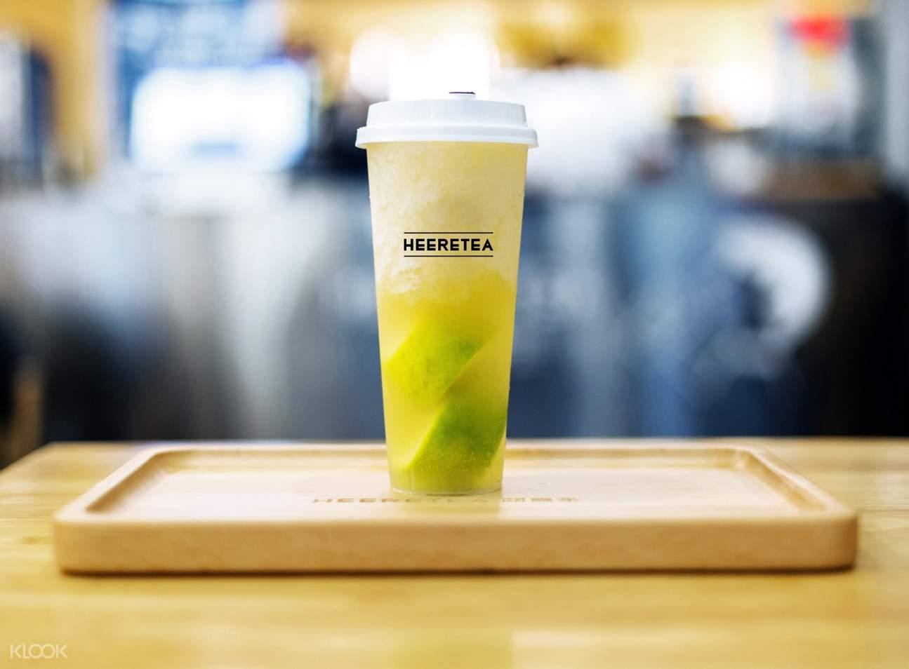 Lime Four Season Tea at Heeretea in Causeway Bay