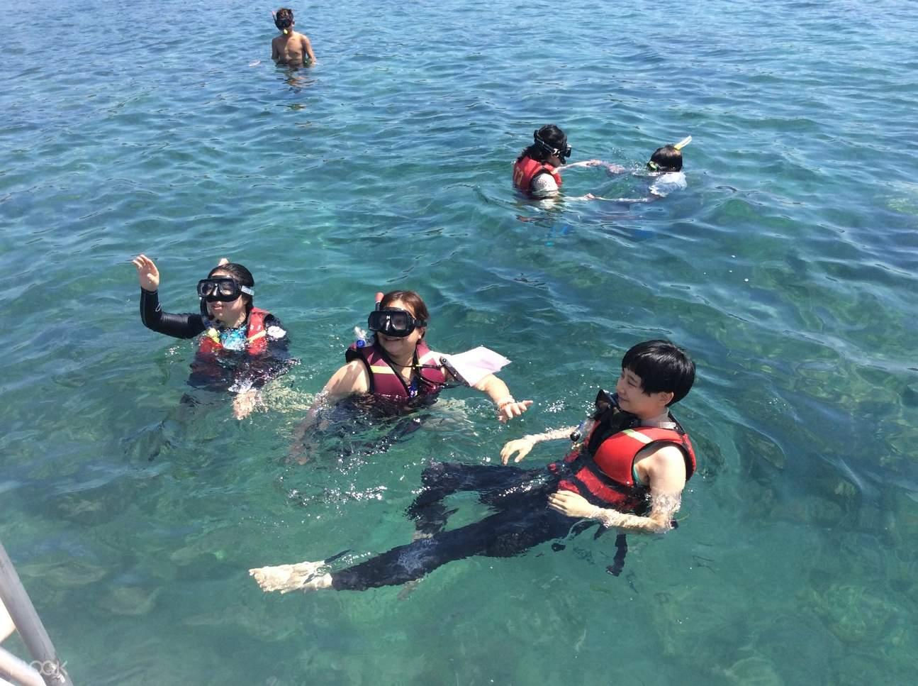 snorkeling activity in pulau tiga
