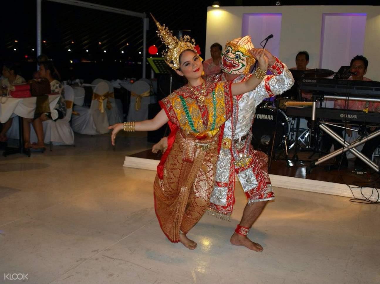 Thai Khon Dancing at River Star Princess Chao Phraya Cruise