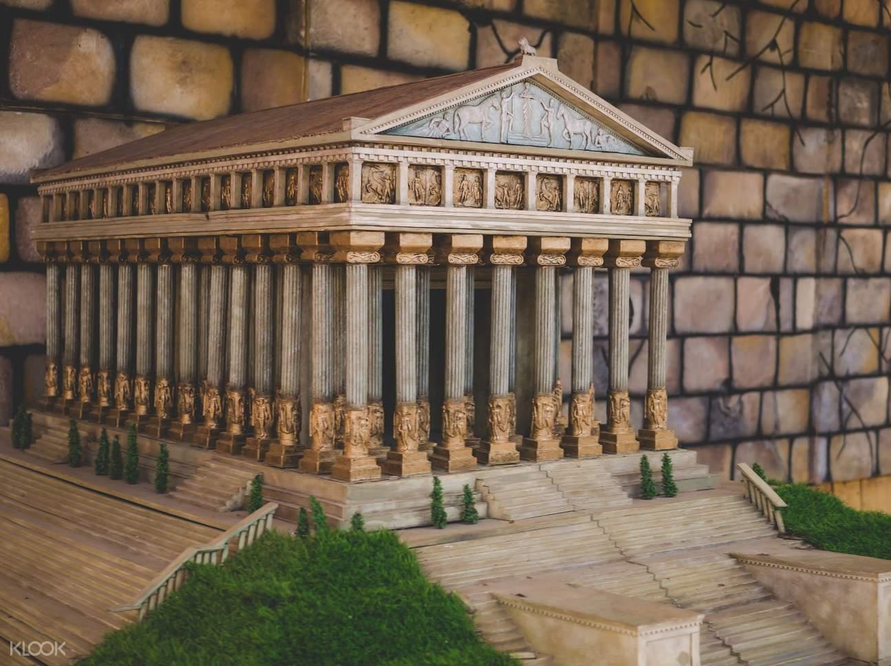 greek temple model in Dinosaurs Island Clark