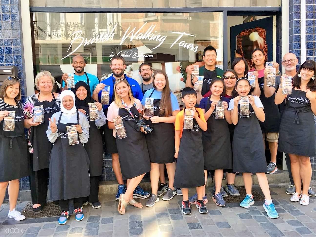 belgian chocolate workshop attendees