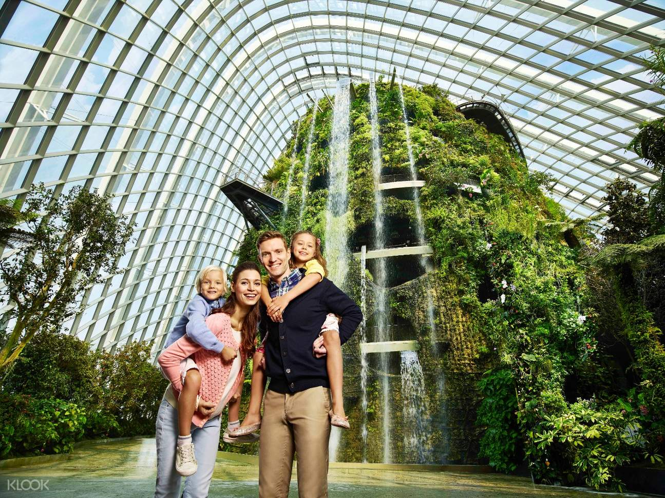 family in Gardens by the Bay in Singapore