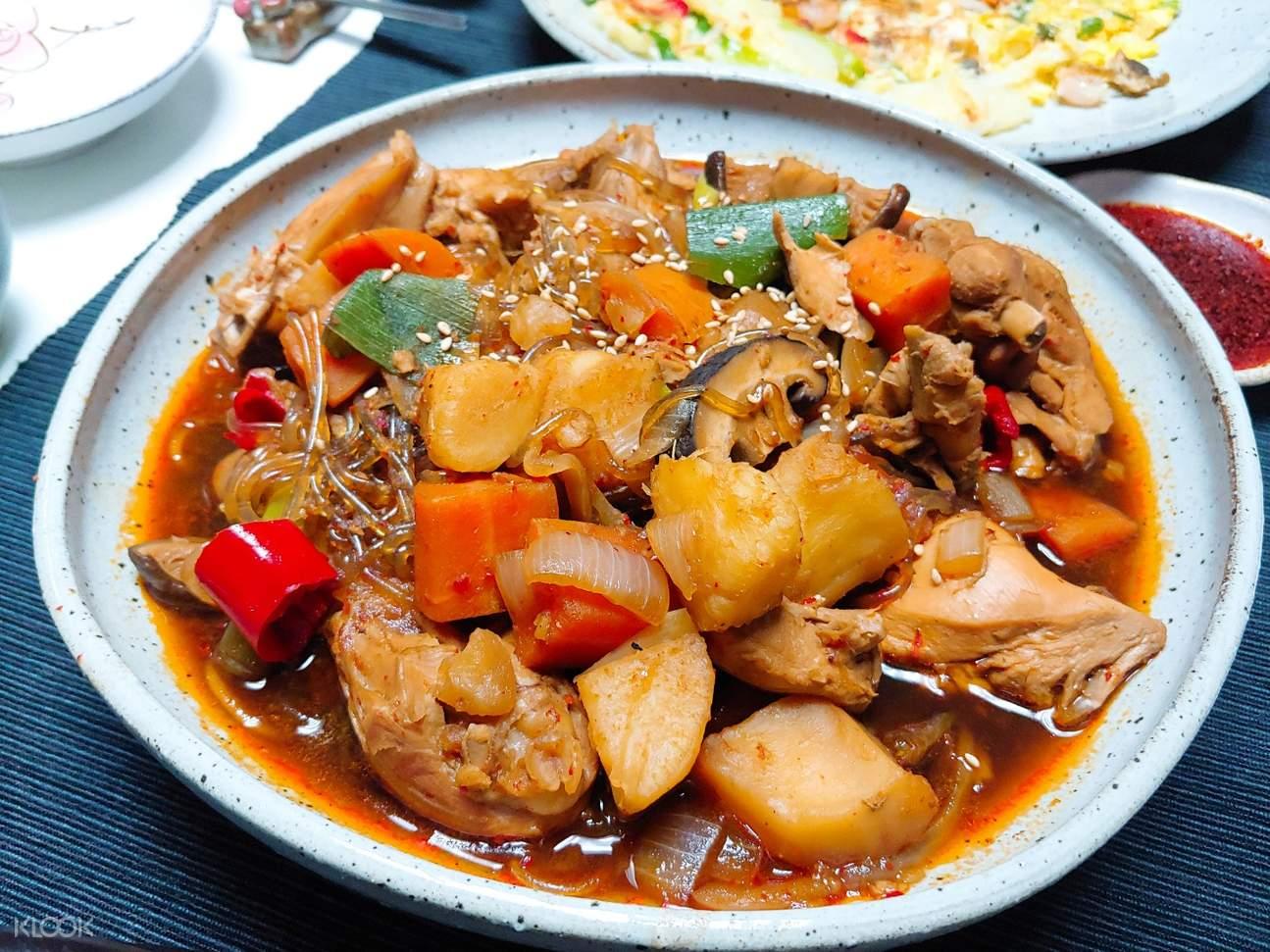 stir fried chicken cooking class in busan