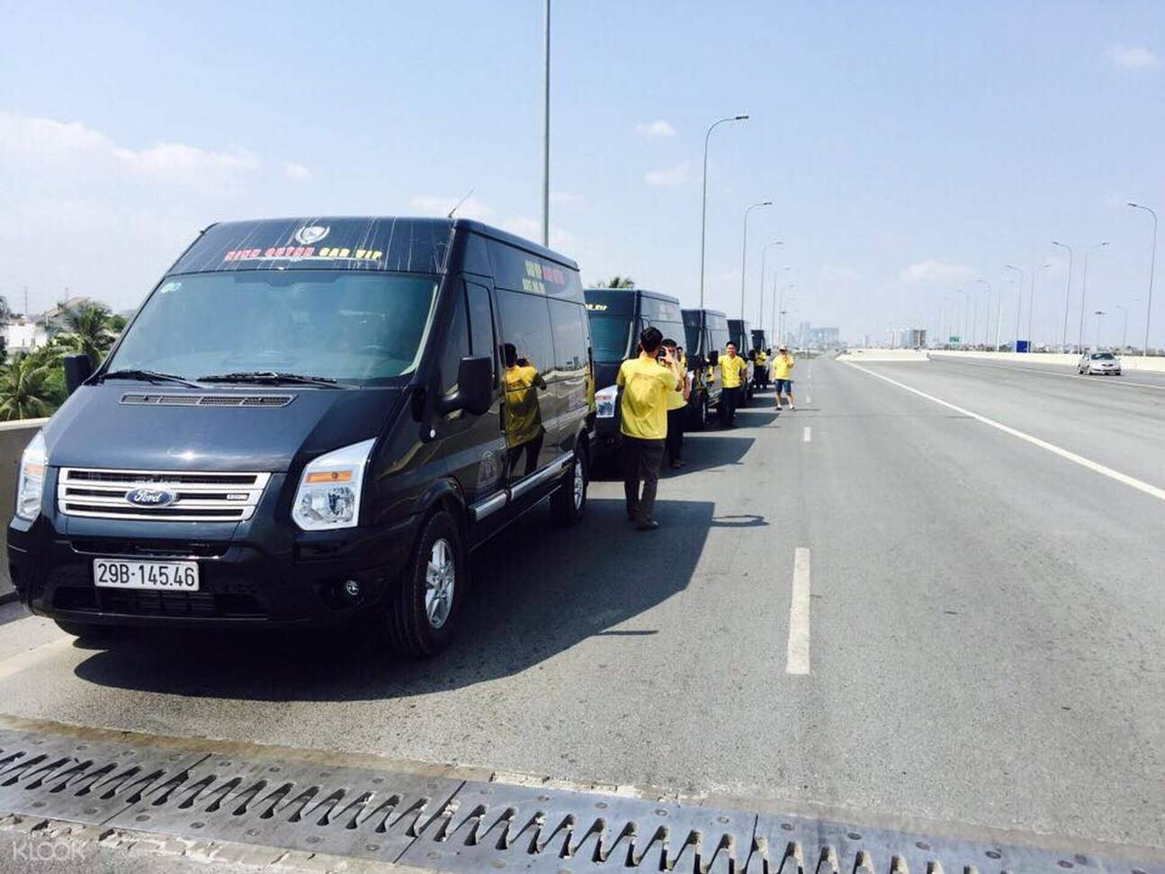 parked limousine along the highway