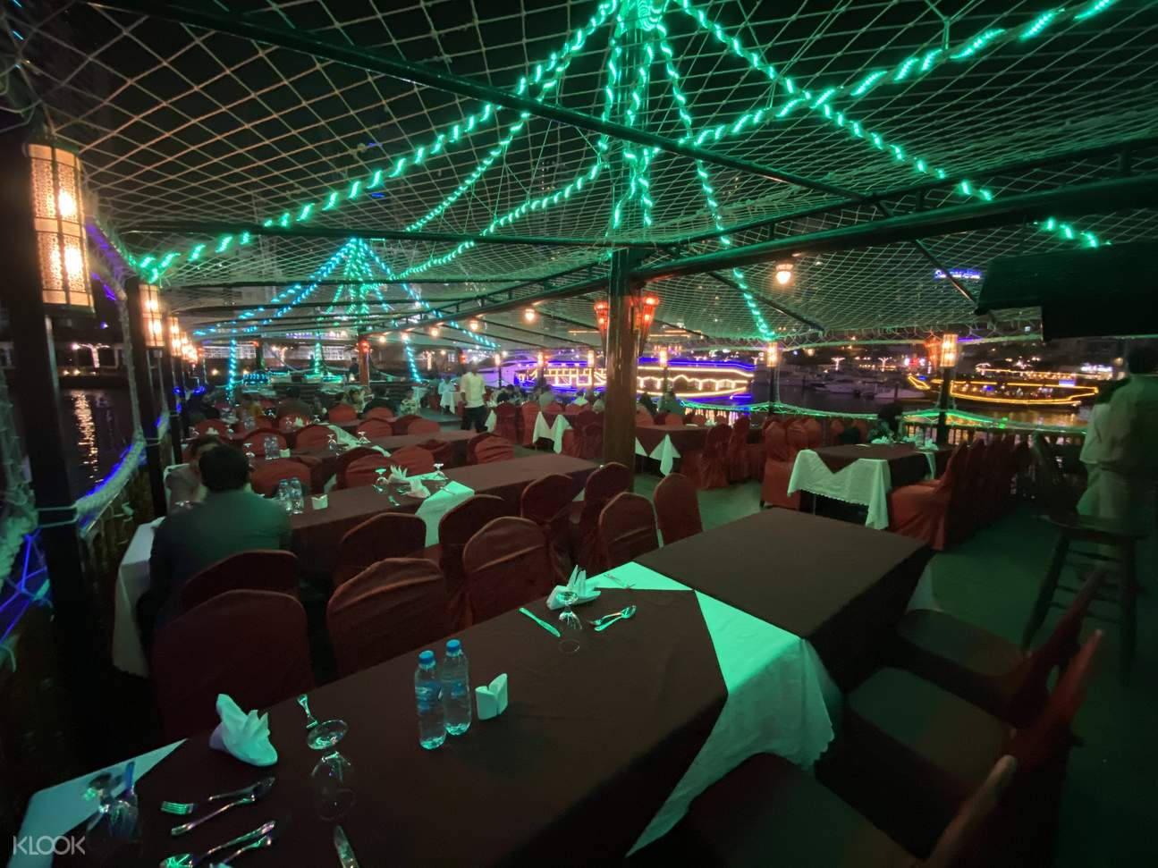 dining area at Mega Dhow Cruise
