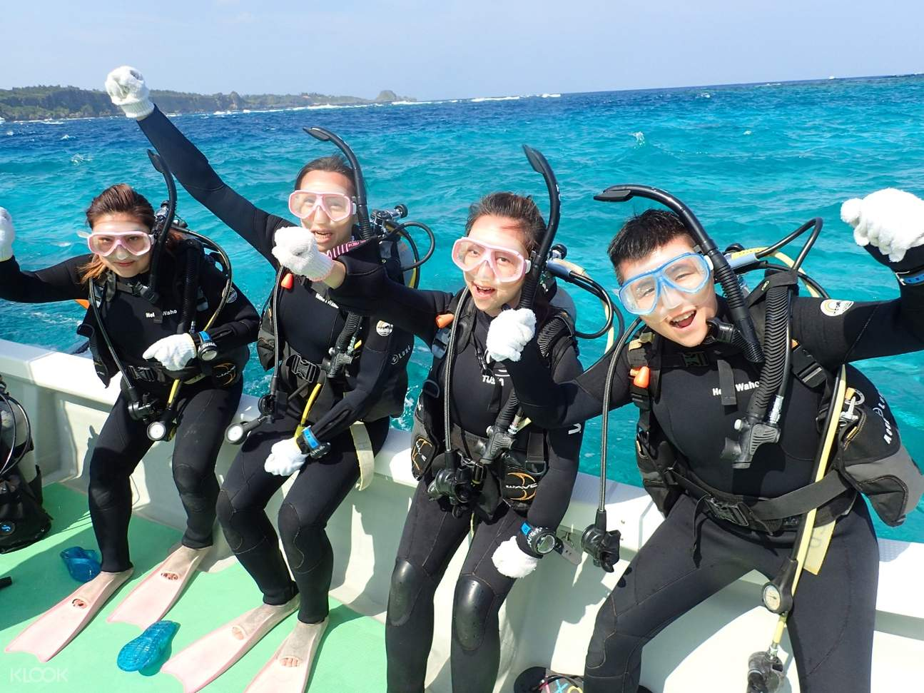 潛水學生合影