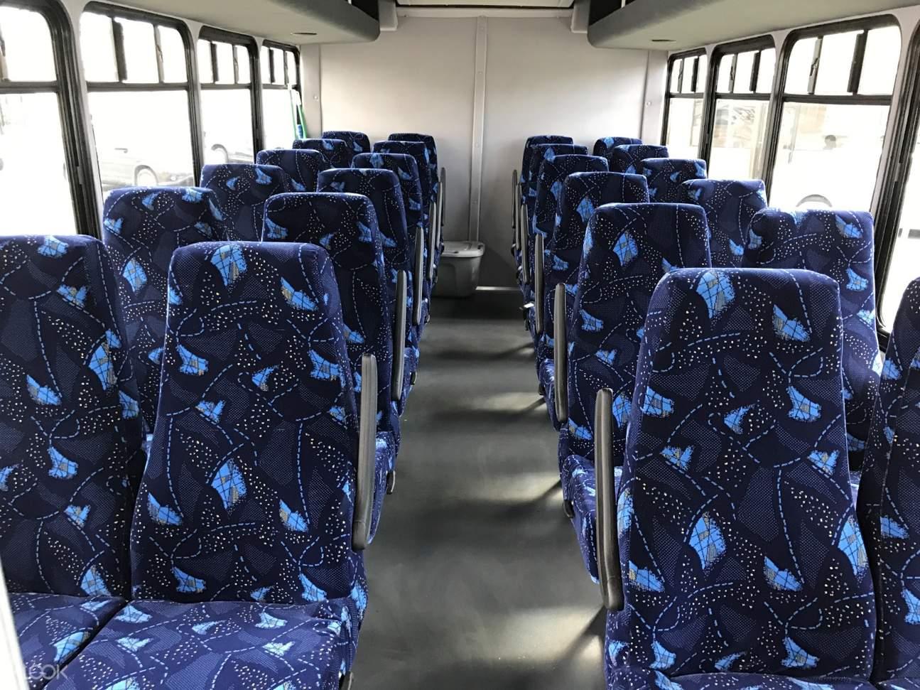 blue seats mini bus shared honolulu airport transfers